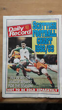 DAILY RECORD SCOTTISH FOOTBALL CHART/LARGE POSTER 1992/93 VGC 100 ins x 54 ins