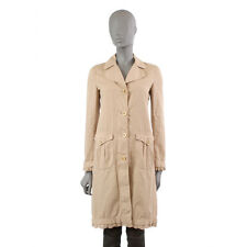 38136 auth MIU MIU beige cotton Between-Seasons Coat Jacket 38 XS