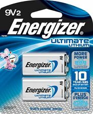 Energizer Ultimate Lithium Batteries, 9V, 2Pack - Lithium Batteries