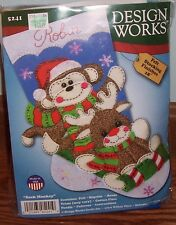 Design Works Sock Monkey Felt Stocking Kit #5241 - New and Unopened