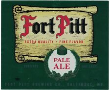 Fort Pitt Pale Ale Label