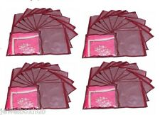 PACK 48 PCS MAROON SAREE SHIRT BEDSHEET GARMENTS COVERS ORGANIZERS STORAGE BAGS