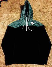 Neff International 1/2 Zip Teal Black Hoodie Sweatshirt Mens Size Medium