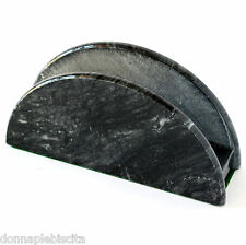 Porta Tovagliolo Set da Tavolo in Marmo Nero Serviette Ring Marble Napkin Holder