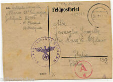 GERMANY, FELDPOSTBRIEF (82665), SEP 1944, ITALY SOLDIER 1° PLOTONE NEBBIOGENO  m