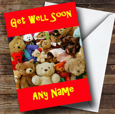 Teddy Bears Personalised Get Well Soon Greetings Card