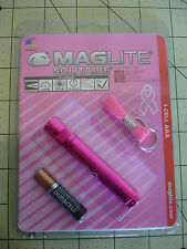 Maglite Solitaire 2 Lumens Flashlight 1 AAA battery Chain Support Breast Cancer