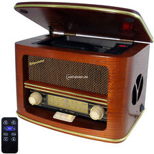 Roadstar HRA-1500 MP Retroradio FM Radio con CD Player FB Vero legno MP3 28 Watt
