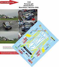 Decals 1/24 réf  1118 Porsche gt3 Nantet Perrin Mont Blanc  Morzine 2006