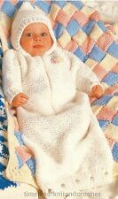 VINTAGE KNITTING PATTERN FOR BABY'S / BABIES SLEEPING BAG in CHUNKY