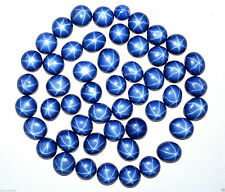 04 - 07 Cts Groovy Blue Star Sapphire Natural Certified Oval Cut Gemstone 25 lot