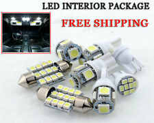 7 x Xenon White LED Interior Bulbs Kit + License Plate Lights For Suzuki SX4 KP
