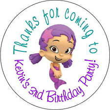 12 bubble guppies Oona stickers Birthday Party 2.5 Inch Personalized