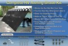 RV Awning Shade Motorhome Trailer Black Awning Shade Complete Kit 8x20