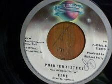 "POINTER SISTERS 45 RPM ""Fire"" & ""Love is Like a Rolling Stone"" VG condition"