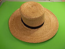 BRAND NEW GENUINE Pennsylvania  AMISH HAND MADE STRAW HAT MEN'S SIZE 7  inch