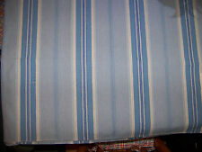 Curtain Upholstery Fabric Blue & White Stripe CROWSON Sandford 04 SAMPLE