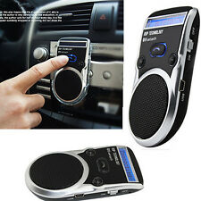 Solar Powered Bluetooth Handsfree Car Kit LCD Speaker For Mobile Cellphone crb