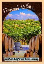 Temecula California Wine #2 United States America Travel Advertisement Poster
