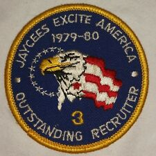 JAYCEES EXCITE AMERICA 1979-80 OUTSTANDING RECRUITER PATCH. FREE SHIPPING