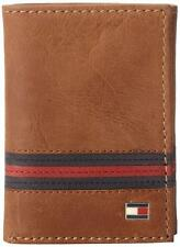 NEW TOMMY HILFIGER MEN'S LEATHER CREDIT CARD ID WALLET TRIFOLD TAN 31TL11X028