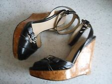 DOLCE & GABBANA BLACK SHOES WEDGE size 39 UK 6 used