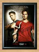 SUPERNATURAL Jared Padalecki Jensen Ackles Signed Autographed A4 Print Photo dvd