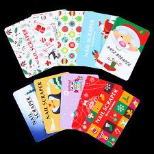 10Pcs/set BORN PRETTY Christmas Nail Art Scrapers Stamping Card Manicure Tool