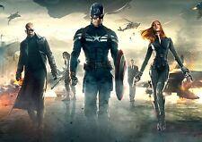 Capitán América Póster de tela posicional A3 re