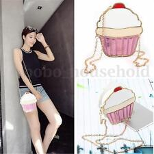 Women Girls Ice Cream Cupcake Shoulder Messenger Bag Handbag Satchel Crossbody