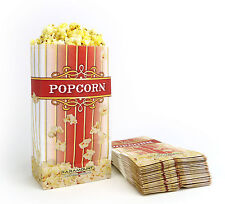 500 Popcorn Serving Bags, 'Large' Standalone Flat Bottom Paper Bag Style