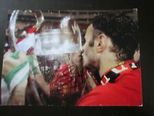 Manchester United 2008 Champions League Signed Ryan Giggs Football Photo  /bi