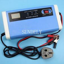 12V 24V 10A Connect and Forget Leisure Battery Charger Caravan Motorhome Boat