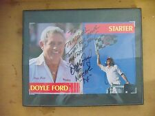 Doyle Ford AUTOGRAPHED Plaque Postcard 1994 Winston Cup Chief Starter NASCAR
