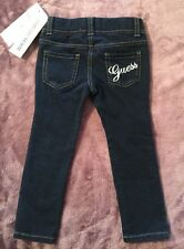 NWT Guess Kids Toddler Girls Knit Skinny Jeans Blue Elastic Waistband Size 2T