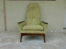 MID CENTURY MODERN ADRIAN PEARSALL EXAGGERATED BACK CLUB CHAIR