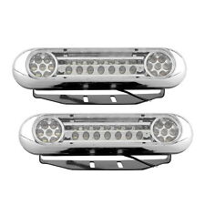 2x White 28-LED Car DRL Daytime Running Driving Light Fog Daylight Bulb 12V