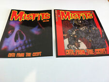 THE MISFITS 2-Pack of Stickers Cuts Crypt & Cartoon Crypt NEW OFFICIAL Danzig