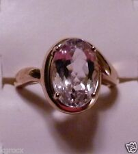 10KT 3.60 CTW GENUINE  ROSE GOLD 11 X 9 MM RICH KUNZITE SOLITAIRE  RING SIZE 8