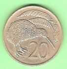 1969 NEW ZEALAND 20 CENT COIN