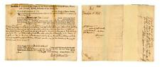 John Adams signed legal document as lawyer for Ben Franklin Lot 2