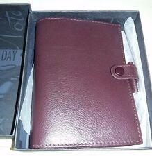 Vintage Filofax Kensington Pocket Planner Organizer Burgundy Leather NEW BOX