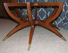 Vtg Teak Coffee Table Base Danish Modern Mid-Century Spider Leg Folding 4 Glass