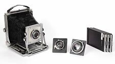 Toyo all metal field 4X5 camera with three lenses 105mm 135mm 180mm and holders