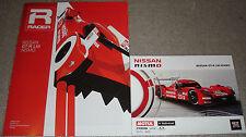 Le Mans-FIA WEC 2015-Nissan Gt-r Lm Nismo-Folleto & tarjeta de información