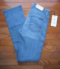 NWT 7 For All Mankind Women's Classic Straight Leg Blue Jean 24 $178