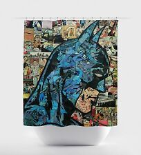 "New Batman Dark Knight Superhero Shower Curtain 60"" x 72"" Standard Size DC Comic"