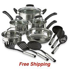 14 Piece Pots And Pans Stainless Steel Cookware Set Cooking set 14 pc