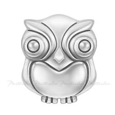 Lovelinks Bead Sterling Silver, Boobook Owl Charm Oxidised Silver Jewelry TT615
