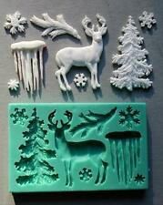 Silicone Mould WINTER STUFF Sugarcraft Cake Decorating Fondant / fimo mold